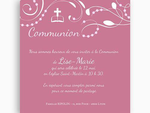 Faire part communion : comment organiser sa première communion ?