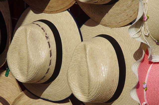 avant de rouler un chapeau Panama roulable